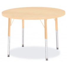 "Berries® Round Activity Table - 36"" Diameter, A-height - Maple/Maple/Camel"