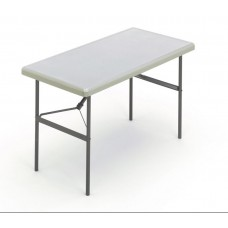 """IndestrucTable TOO Folding Table,1200 Series - Platinum - 24"""" x 48"""""""