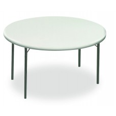 """IndestrucTable TOO Folding Table,1200 Series - Platinum - 60"""" Round"""