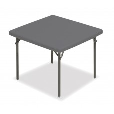 """IndestrucTable TOO Folding Table, 1200 Series, Charcoal, 37"""" Square"""