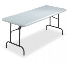"""IndestrucTable TOO Folding Table,600 Series - Platinum - 30"""" x 72"""""""