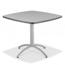 "CaféWorks Café Table 36"" Square, Gray"