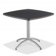 "CaféWorks Café Table 36"" Sqaure, Graphite Granite"