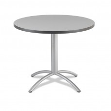 "CaféWorks Café Table 36"" Round, Gray"