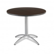 "CaféWorks Café Table 36"" Round, Walnut"