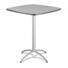 "CaféWorks Bistro Table 36"" Square, Gray"