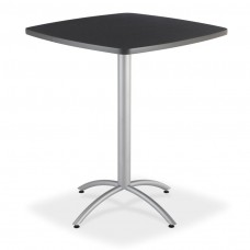 "CaféWorks Bistro Table 36"" Square, Graphite Granite"