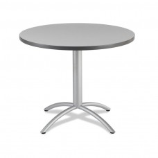 "CaféWorks Café Table 42"" Round, Gray"