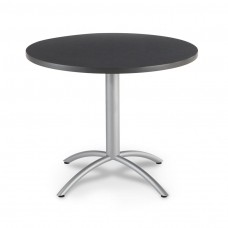 "CaféWorks Café Table 42"" Round, Graphite Granite"