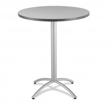 "CaféWorks Bistro Table 36"" Round, Gray"