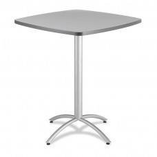 "CaféWorks Bistro Table 42"" Square, Gray"
