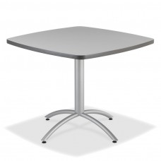"CaféWorks Café Table 42"" Square, Gray"