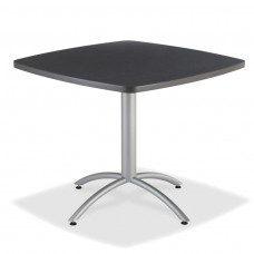 "CaféWorks Café Table 42"" Square, Graphite Granite"