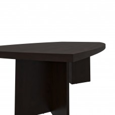 """Bestar Boat-Shaped conference table with 1 3/4"""" melamine top in Bark Gray"""