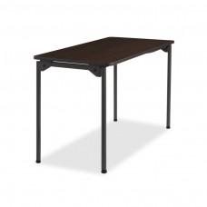 Maxx Legroom Wood Folding Table 24x48, Walnut