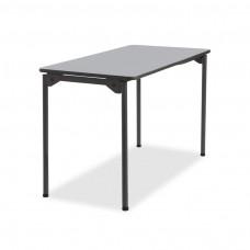 Maxx Legroom Wood Folding Table 24x48, Gray