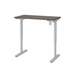 "Bestar 24"" x 48"" Electric Height adjustable table in Bark Gray"