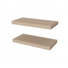 "Bestar 2 Piece 12"" x 24"" High Quality Lightweight Floating Shelf Set"
