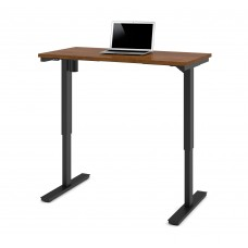 "Bestar 24"" x 48"" Electric Height adjustable table in Tuscany Brown"