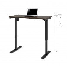 "Bestar 24"" x 48"" Electric Height adjustable table in Dark Chocolate"