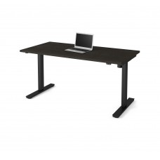 "Bestar 30"" x 60"" Electric Height adjustable table in Deep Gray"