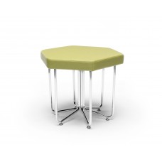 Hex Series Stool with Chrome Frame, Leaf