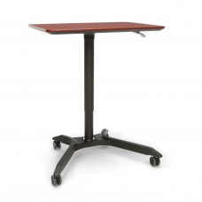 Mesa Series Height Adjustable Mobile Podium, Cherry