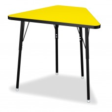 Berries® Tall Trapezoid Desk - Yellow/Black/All Black