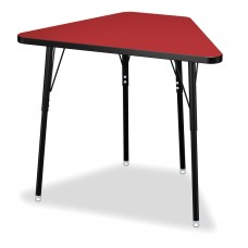 Berries® Tall Trapezoid Desk - Red/Black/All Black