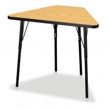 Berries® Tall Trapezoid Desk - Oak/Black/All Black