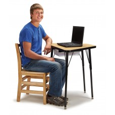 Berries® Tall Trapezoid Desk - Maple/Black/All Black
