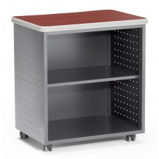 OFM Mesa Series Model 66745 Wheeled Mobile Utility Station with Shelf and Laminate Top, Cherry