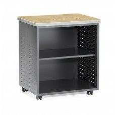 OFM Mesa Series Model 66745 Wheeled Mobile Utility Station with Shelf and Laminate Top, Oak