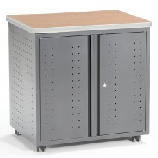OFM Mesa Series Model 66746 Wheeled Locking Mobile Utility Station Cabinet with Laminate Top, Maple