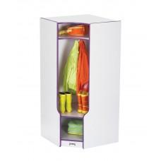 Rainbow Accents® Corner Coat Locker with Step - Blue