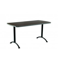 ARC 30x60 Rectangular Table, Walnut /Grey Leg