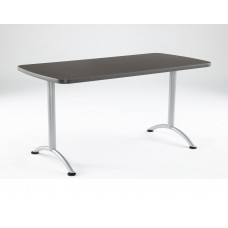 ARC 30x60 Rectangular Table, Grey Walnut /Silver
