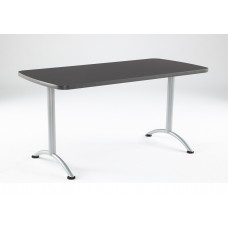 ARC 30x60 Rectangular Table, Graphite /Silver Leg