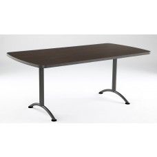 ARC 36x72 Rectangular Table, Walnut / Gray Leg