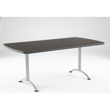 ARC 36x72 Rectangular Table, Grey Walnut / Silver