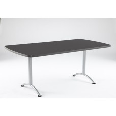 ARC 36x72 Rectangular Table, Graphite / Silver Leg