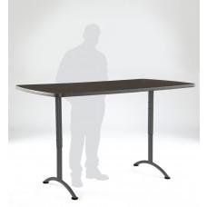ARC 36x72 Adj Rectangular Table, Walnut /Gray Leg