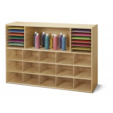 Young Time® Sectional Cubbie-Tray Storage - without Bins