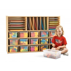Young Time® Sectional Cubbie Storage - with Clear Trays