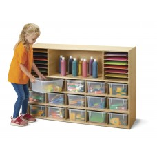Young Time® Sectional Cubbie-Tray Storage - with Clear Bins