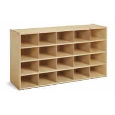 Young Time® 20 Cubbie-Tray Storage - without Bins