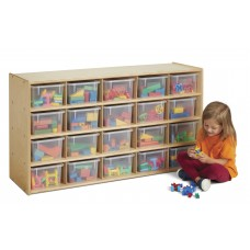 Young Time® 20 Cubbie-Tray Storage - with Clear Bins