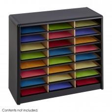 Value Sorter® Literature Organizer, 24 Compartment - Black