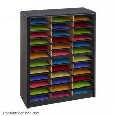 Value Sorter® Literature Organizer, 36 Compartment - Black