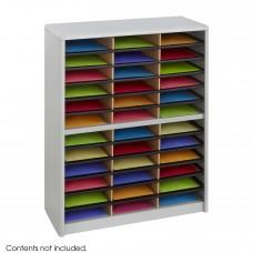 Value Sorter® Literature Organizer, 36 Compartment - Gray